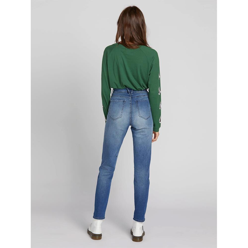 B1931801-MBW, MEDIUM BLUE WASH, DENIM, SUPER STONED SKINNY, VOLCOM, FALL 2019, BACK VIEW