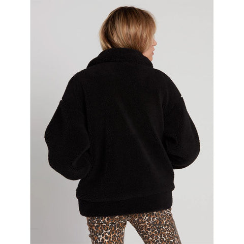 B1531904-BLK, BLACK, SEA SHERPANT JACKET, VOLCOM, WOMENS CASUAL JACKET, FALL 2019, BACK VIEW