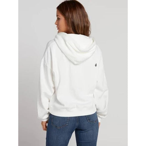 B3131902-SWH, Star White, White, Knew Wave Hoodie, Volcom, Womens Pullover Hoodies, Fall 2019, Back View