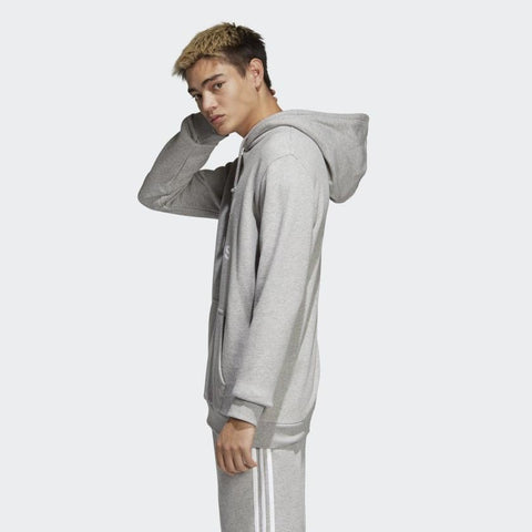 dt7963 Adidas Trefoil Hoodie medium heather grey side view