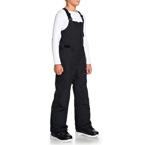 EQBTP03025-KVJ0, Black, Utility Snow Bib Pants, Quiksilver, Youth Outerwear, Youth Snowpants, Side View