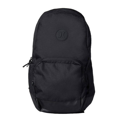 HU0005-010, Black, Hurley, Blockade II Solid Backpack, School Backpack, front view