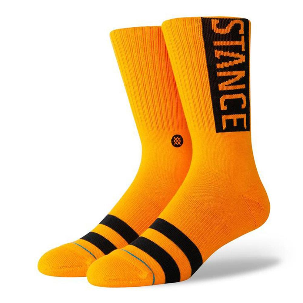 M556D17OGG.TNG, TANGERINE, ORANGE, STANCE SOCKS, OG, FALL 2019, MENS CREW SOCKS