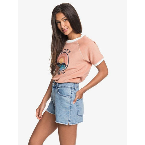 "ERJDS03222-BFN0, LIGHT BLUE, DENIM, ROXY, CENITZ SUNSET 13"" DENIM SHORTS, WOMENS JEAN SHORTS, SPRING 2020"