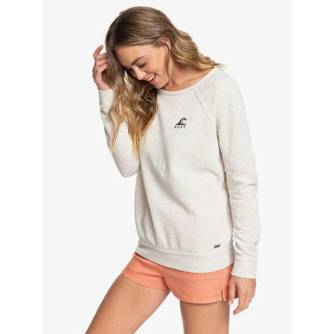 ERJFT04188-TENH, METRO HEATHER, HEATHER GREY, ROXY, PACIFIC HIGHWAY B SWEATSHIRT, WOMENS CREW NECK SWEATSHIRTS, SPRING 2020