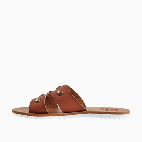 JFOT1BST-TAN, BILLABONG, STUDLY SANDALS, LEATHER, SLIDES, SPRING 2020