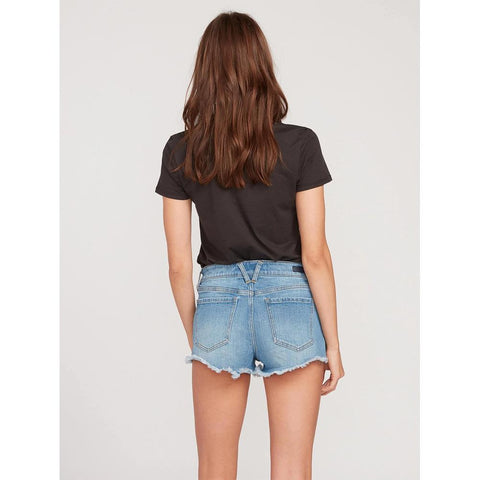 B1921906-REL, BLUE RELIC, VOLCOM, STONEY STRETCH SHORT, WOMENS JEAN SHORTS, SPRING 2020