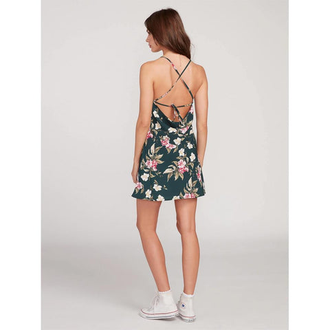 B1312012-EMG, EMERALD GREE, VOLCOM, HAUTE TROPIC DRESS, WOMENS DRESSES, SPRING 2020