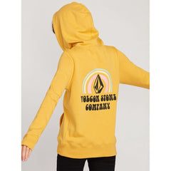 B4112000-SRS, SUNRISE, YELLOW, VOLCOM, STONE HOODIE, WOMENS PULLOVER HOODIES, SPRING 2020, BACK VIEW