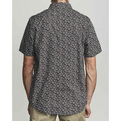 M5181RBF-BLK, BLACK, RVCA, BELLFLOWER BUTTON UP SHIRT, MENS SHORT SLEEVE WOVEN SHIRTS, SPRING 2020
