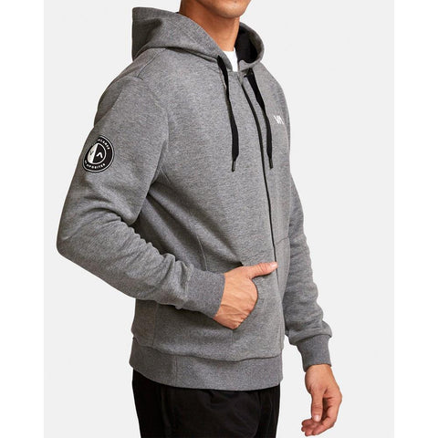 V603VRSH-HGR, Heather Grey, RVCA, Sideline Hoodie, Mens Hoodies, Mens Zip up hoodies, Spring 2020