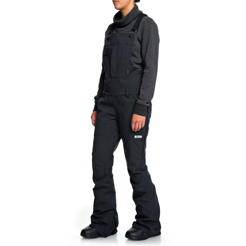 EDJTP03021-KVJ0, COLLECTIVE BIB SNOW PANTS, DC, WOMENS SNOW PANTS, WINTER 2020, SIDE VIEW