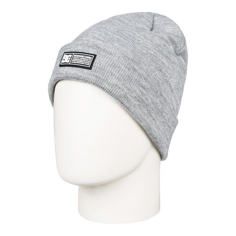 edyha03095-skph DC Label Cuff Beanie heather grey overall view