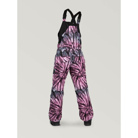 i1252000-pur Volcom Barkley Youth Bib Overall purple back view