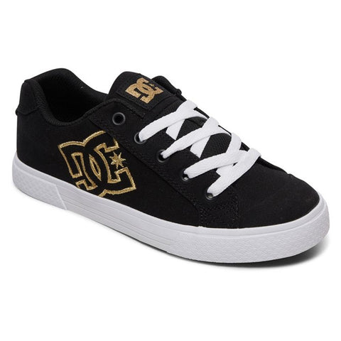 303226-BG3, BLACK/GOLD, DC, CHELSEA TX J SHOES, WOMENS SKATE SHOES, SPRING 2020
