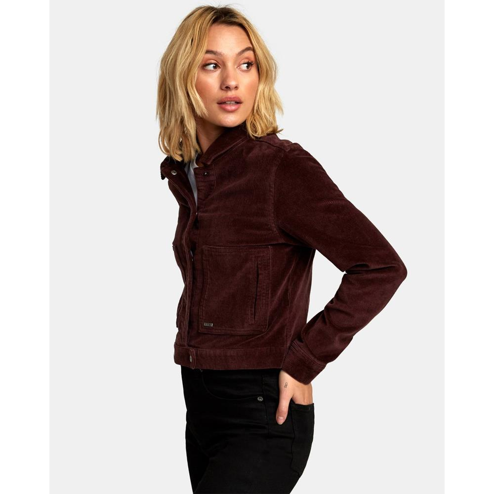 W705WROO- FGD, Fudge, Out Out Corduroy Cropped Jacket, Womens Casual Jacket, Brown, Holiday 2019
