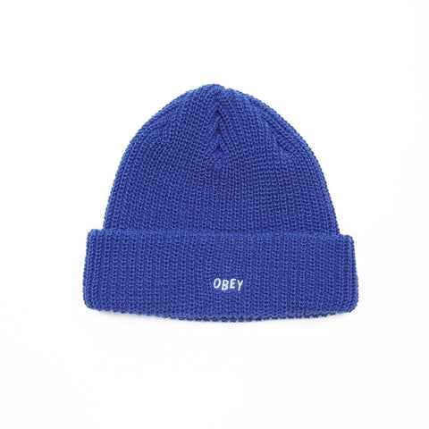 100030145.RYL, Royal, Blue, Obey, Jumbled Beanie, Holiday 2019, Toque, Winter headwear
