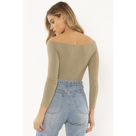 a902ntre-sur Amuse Society Trevi Knit Bodysuit surplus back
