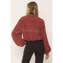 a507ncam-fig Amuse Society Camille Woven Top fig back