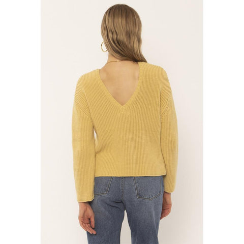 Amuse Society, A801MSUN, Sunset Road Sweater, Golden Hour, Yellow, Womens Sweaters, Holiday 2019
