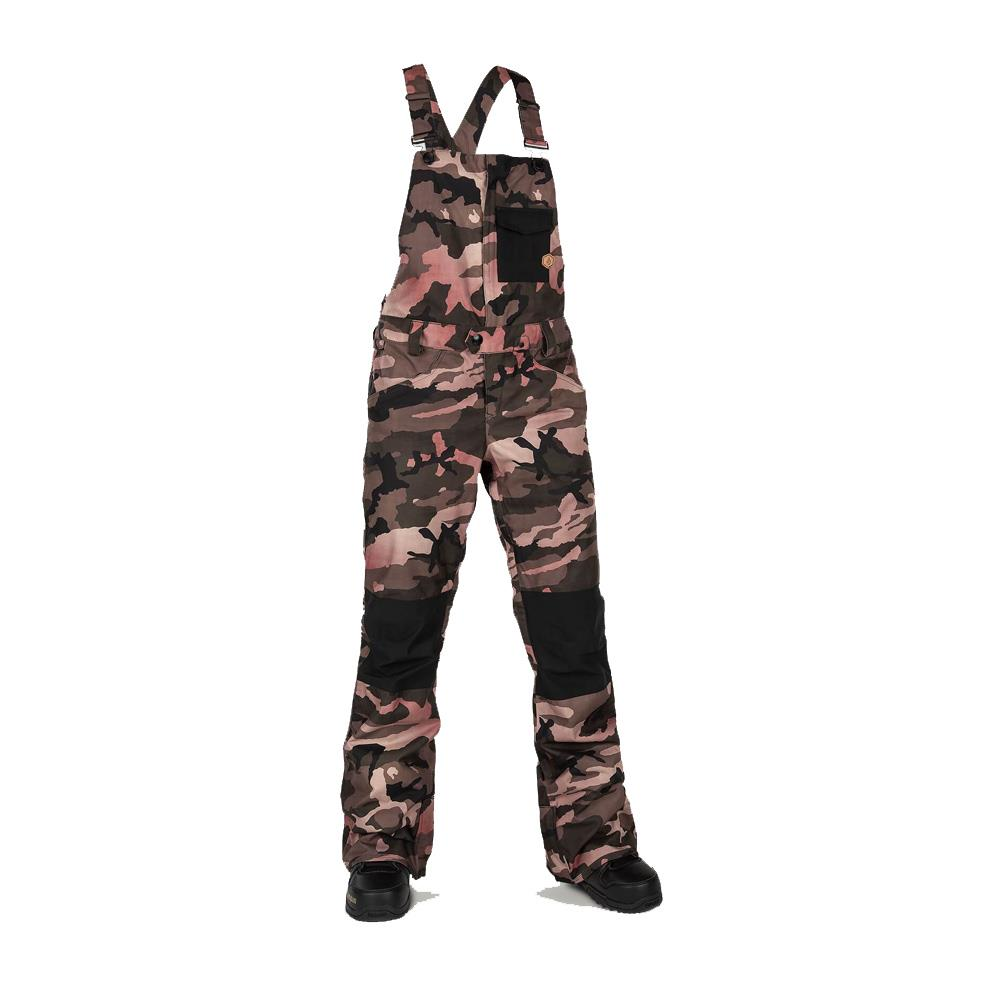 h1352003-fdr Volcom Swift Bib Overall faded army front view