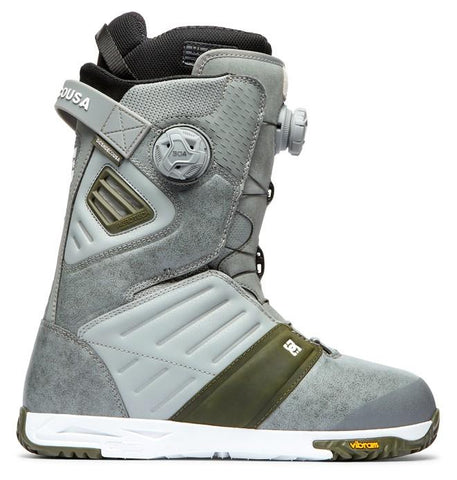 adyo100036-gry DC Judge Mens Boa Snowboard Boots grey side1 view