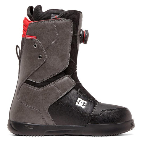 adyo100037-gyb DC Scout Mens Boa Snowboard Boots grey/black side1 view