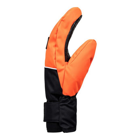 edbhn03010-nkr0 DC Franchise Youth Mitts shocking orange aside view