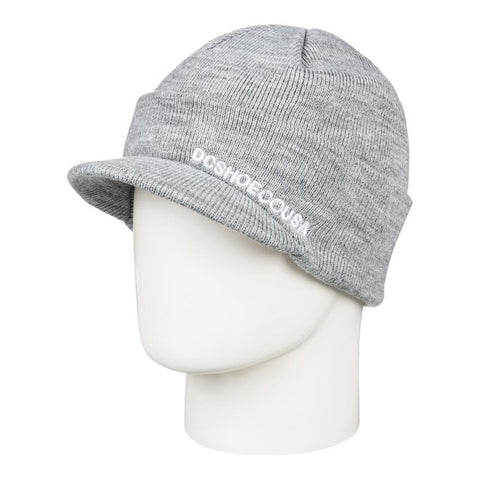 edyha03099-skph DC Marquee Visor Beanie heather grey overall view