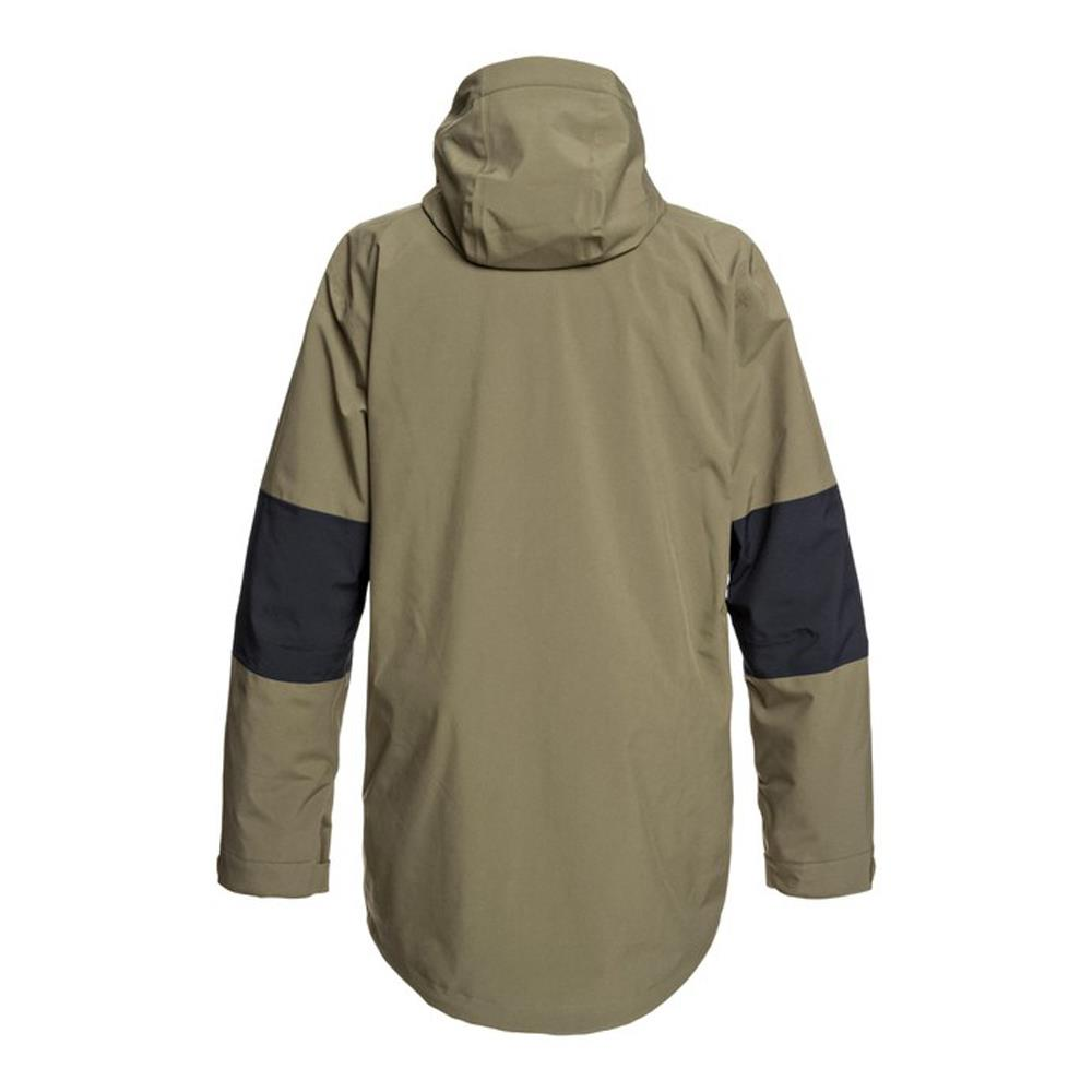 edytj03085-crh0 DC Command Packable Snow Jacket back view olive night