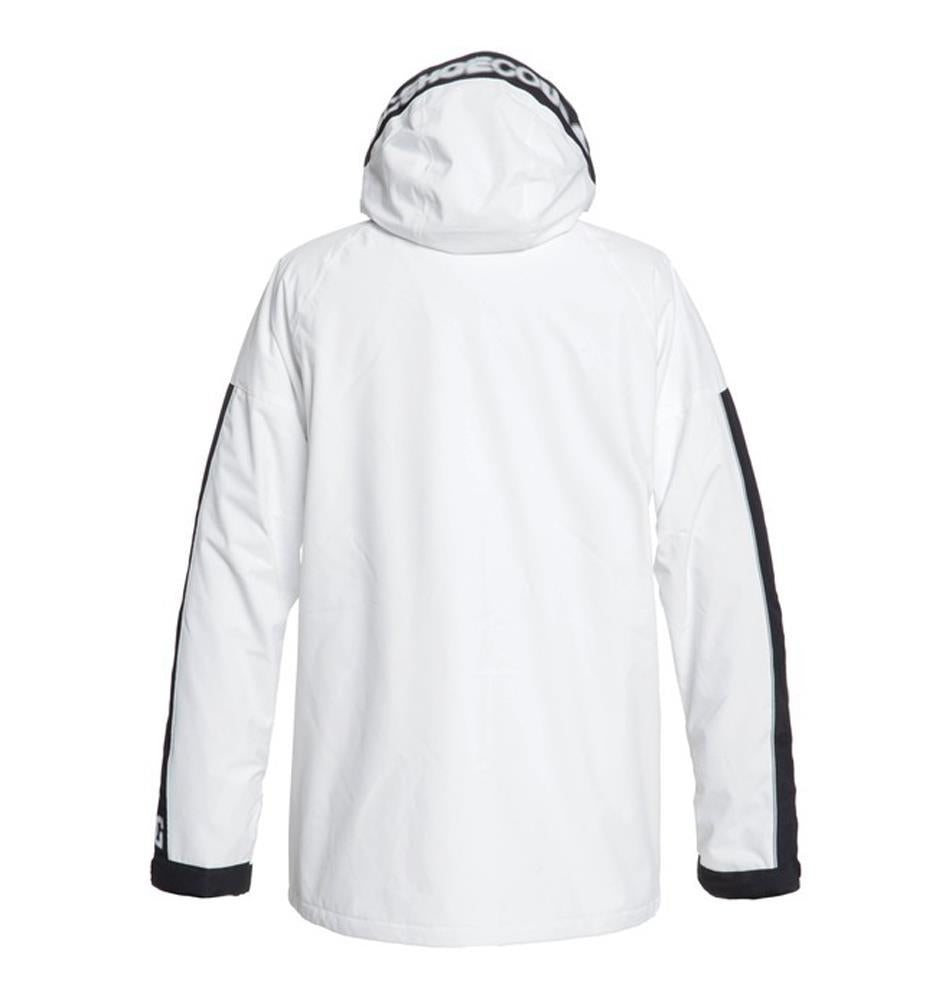 edytj03091-wbb0 DC Retrospect Snow Jacket white back view