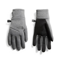 nf0a3lvujbv The North Face Mens Apex Etip Gloves medium grey heather front n back view