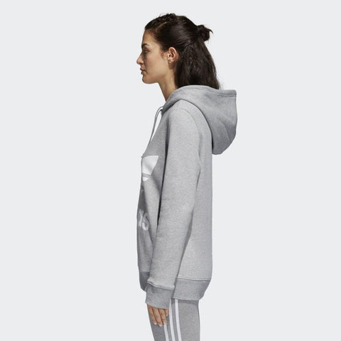 cy6665 Adidas Trefoil Hoodie medium grey heather side view
