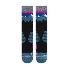 m758c19ril-blu Stance Ridge Line Socks blue front view