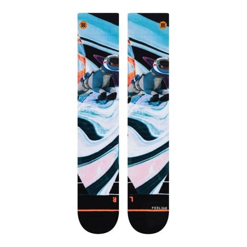 w758c19ass-wht Stance Astro Dog Socks white front view