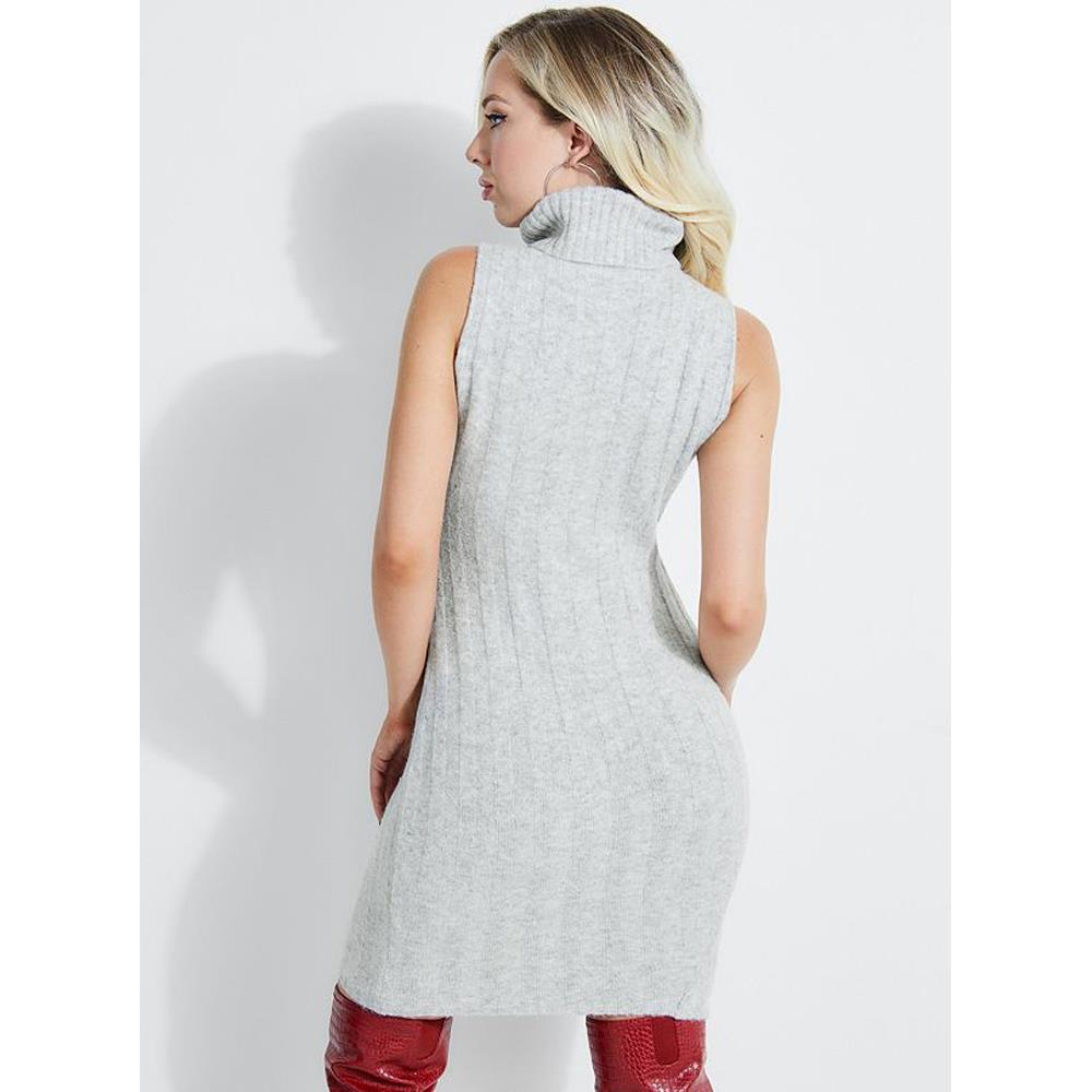 w93k10r1fy0-m90 Guess Olina Ribbed Dress grey back
