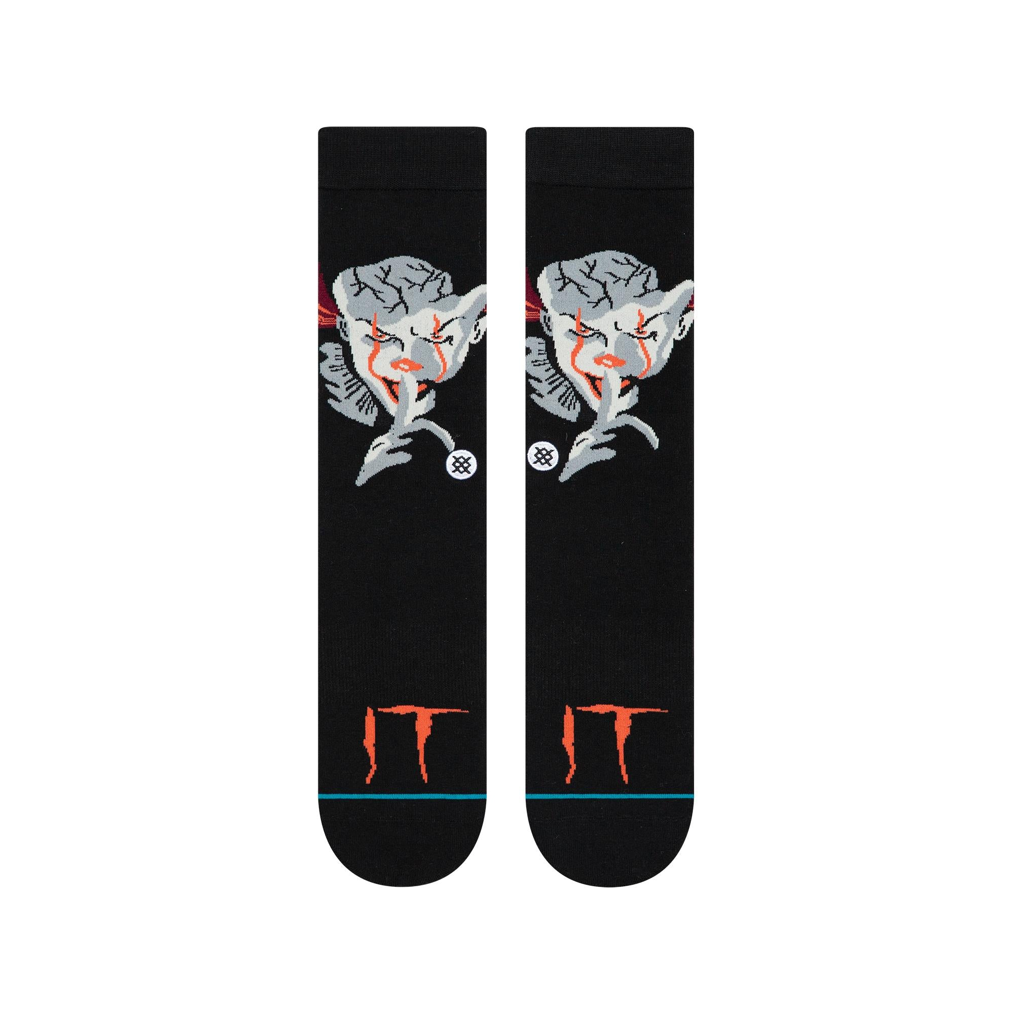 m545c19pen-blk Stance IT Pennywise Socks black front view
