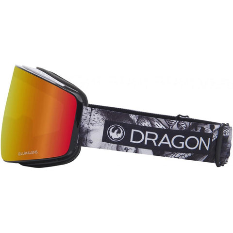 38280-6534002 Dragon PXV Womens Goggles side view black rose