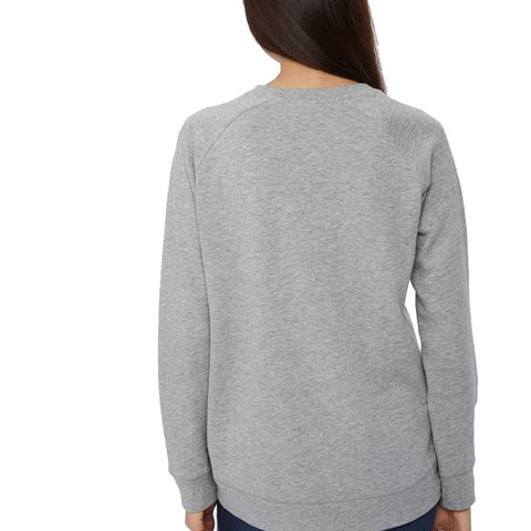 tcw2038-0235 Ten Tree Happy Crew Long Sleeve Shirt womens shirt hi rise grey back view