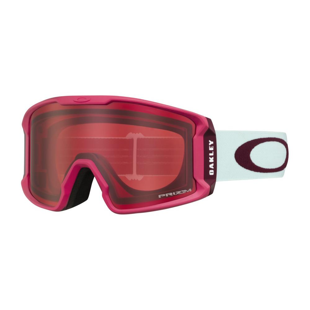 oo7093-21 Oakley Line Miner XM Snow Goggle strong red jasmine/snow rose side