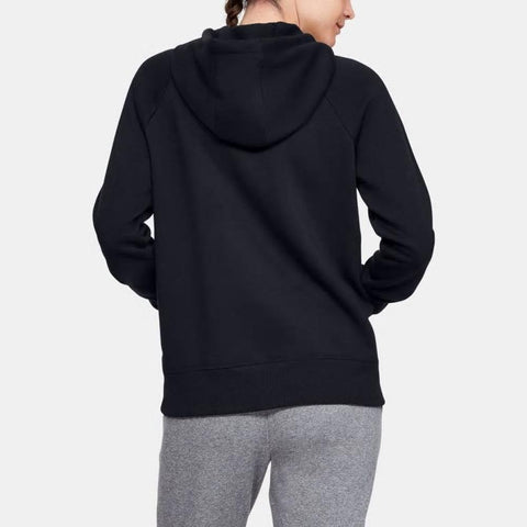 1348550-001, Black, Under Armour, Rival Fleeve Sportstyle Graphic Hoodie, Womens Pullover Hoodies, Fall 2019, Back View