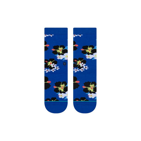 K515D19DKF.COB, COBALT BLUE, KIDS DIGI FLORAL SOCKS, STANCE, HOLIDAY 2019, CREW HEIGHT,