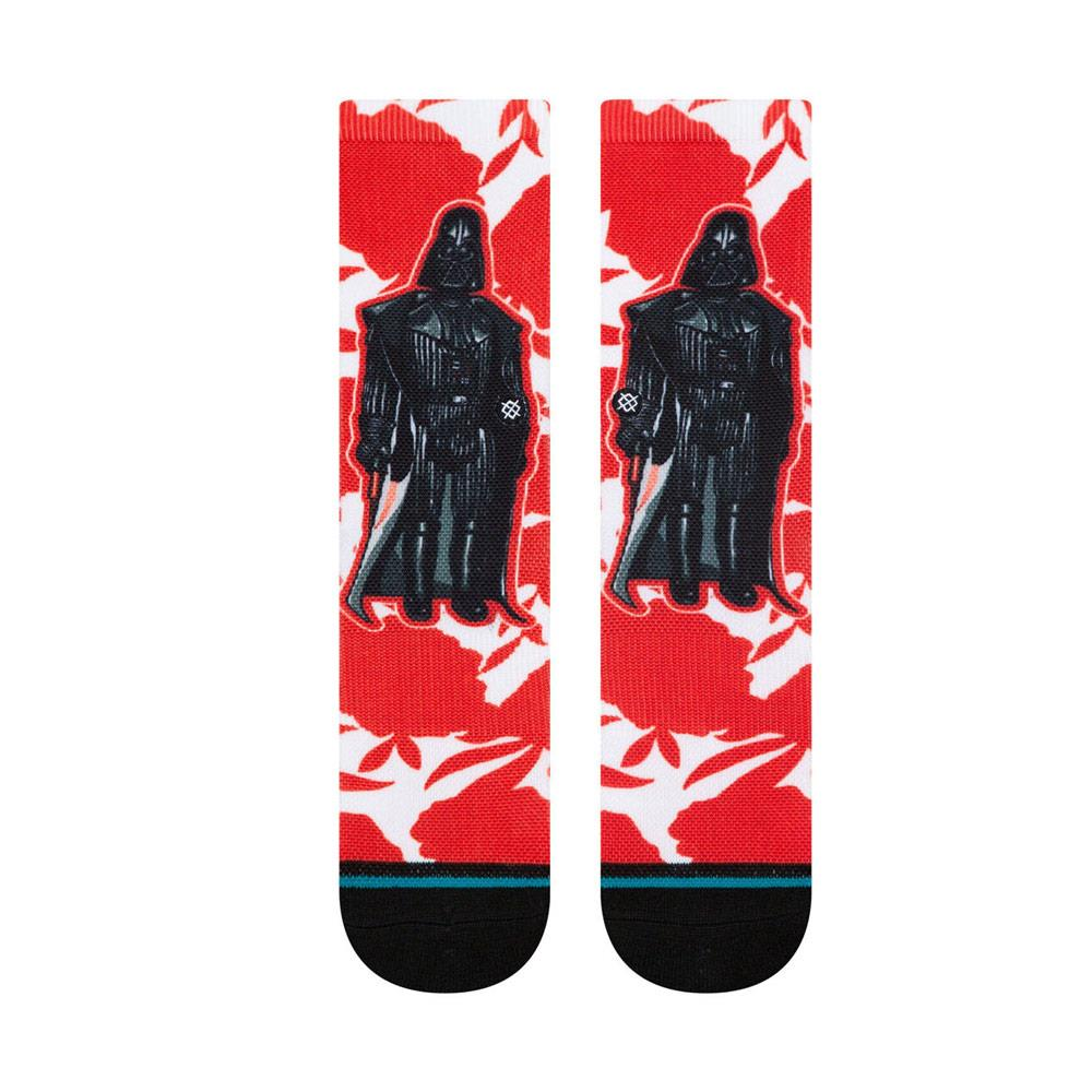 K558D19FLV.RED, RED, STANCE, KIDS STAR WARS FLORAL VAIDER CREW SOCKS, KIDS SOCKS, BLACK