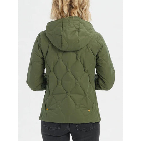21465100300-Keef, Green, Burton, Kiley Hooded Insulated Jacket, Womens Jackets, Womens Outerwear, Winter 2020, Back View
