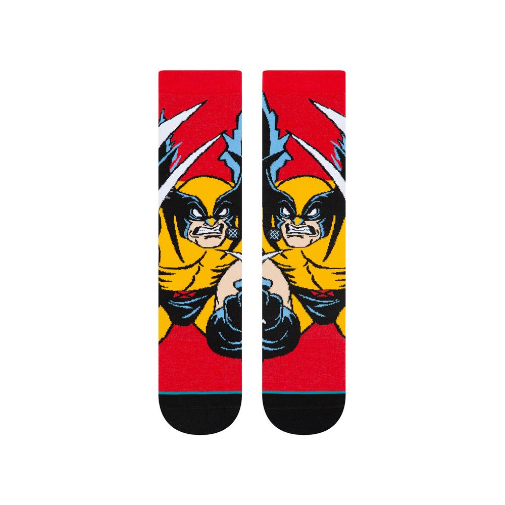 U545D19XMW.RED, Stance, Marvel X-Men Wolverine, Red, Mens Socks