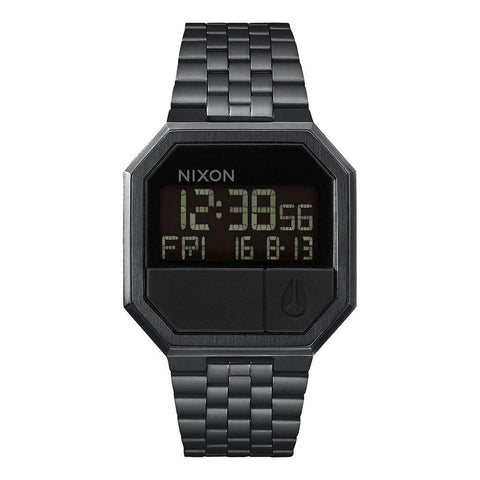 A158-001-00, ALL BLACK,NIXON, THE RE-RUN, MENS WATCHES, MENS METAL BAND WATCHES, WINTER 2019