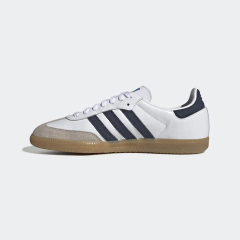 Adidas,Samba OG Shoes,White/Navy,Mens,7,8,9,10,10.5,11,12,Side View