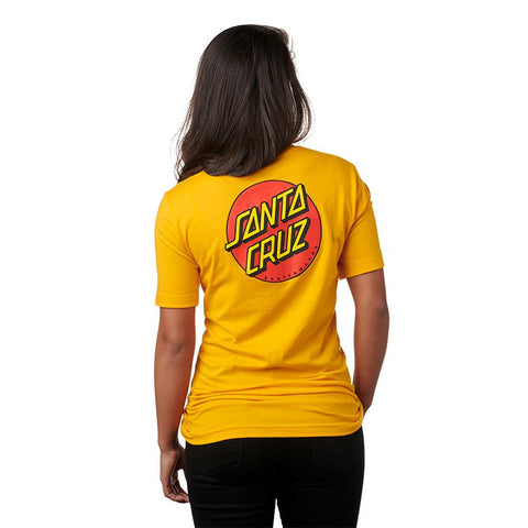44151288, Santa Cruz, Classic Dot Tee, Gold, Womens T-Shirts, Short Sleeve Shirts, Fall 2019, Back View