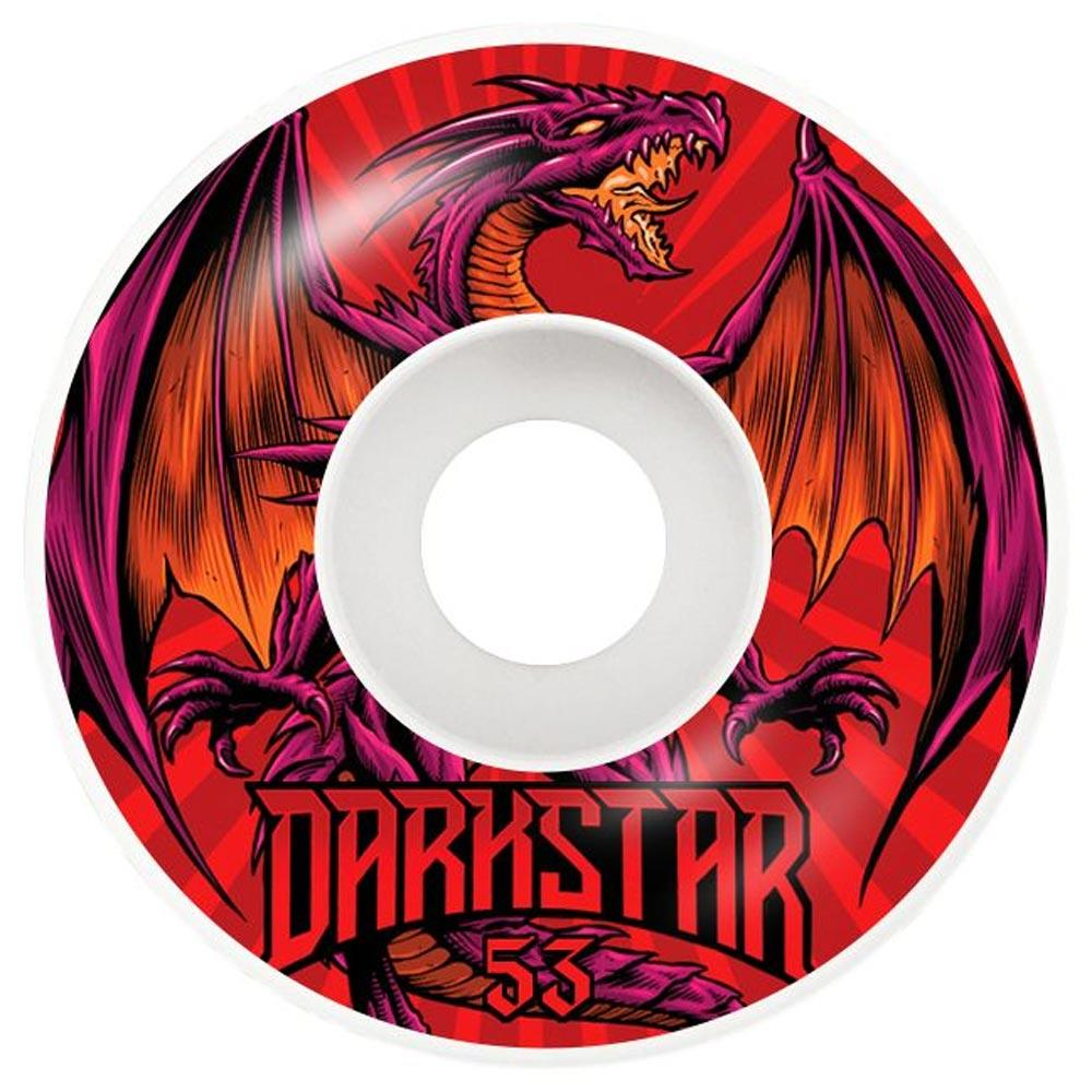 10112345-RED-53, 53MM, DARKSTAR, RED, LEVITATE WHEELS, SKATE WHEELS
