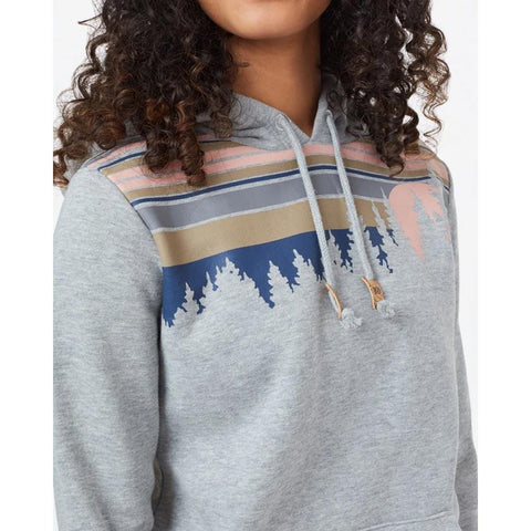 TCW2448-0346, HI RISE HEATHER GREY, TEN TREE, RETRO JUNIPER CLASSIC HOODIE, WOMENS PULLOVER HOODIES